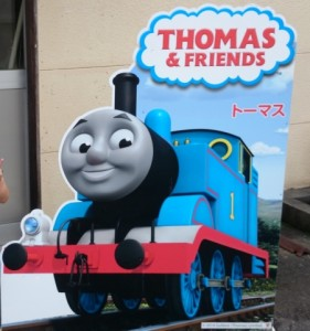トーマスと写真も取れる大井川鐵道