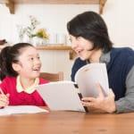 家で勉強を教える